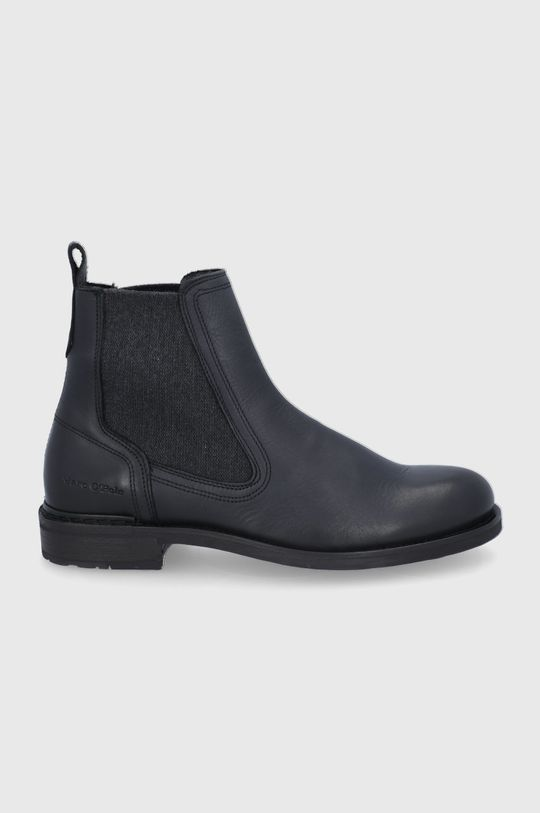 černá Marc O'Polo - Kožené kotníkové boty Pánský