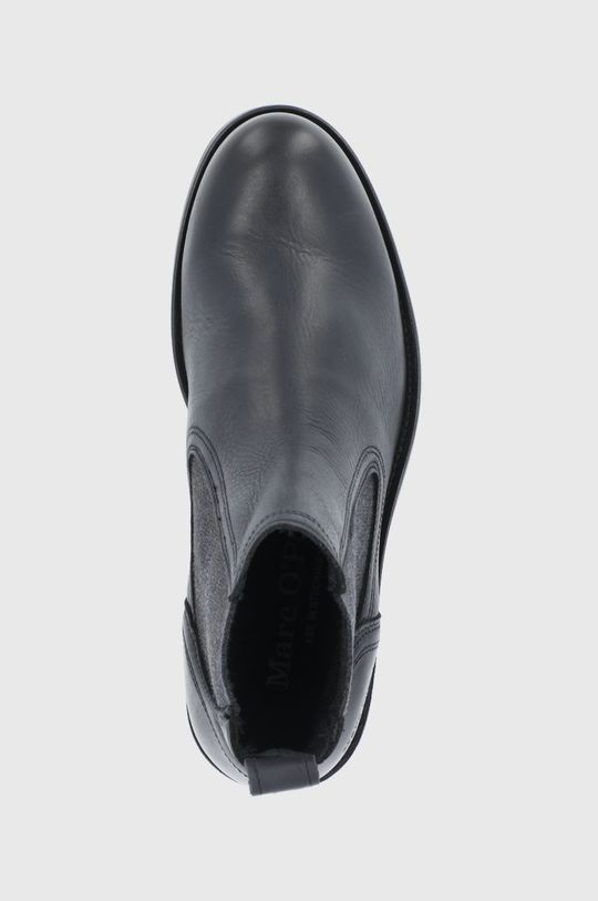 černá Marc O'Polo - Kožené kotníkové boty