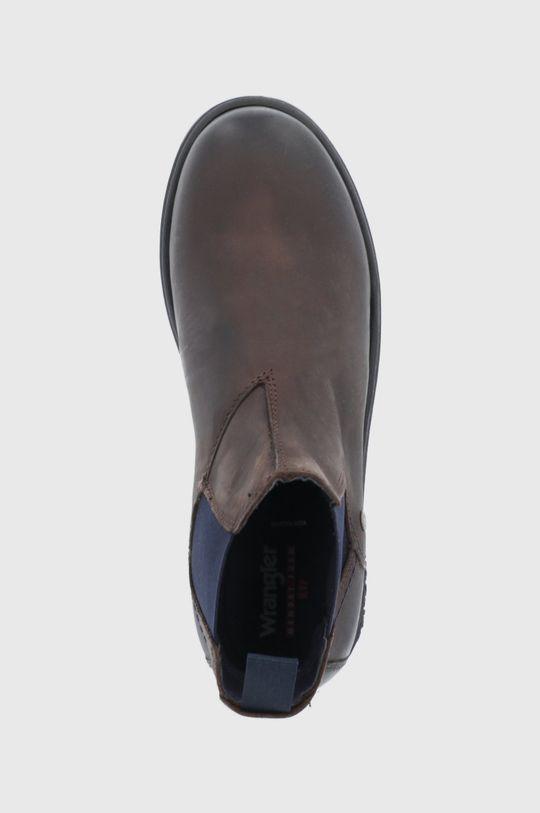 hnědá Wrangler - Kožené kotníkové boty