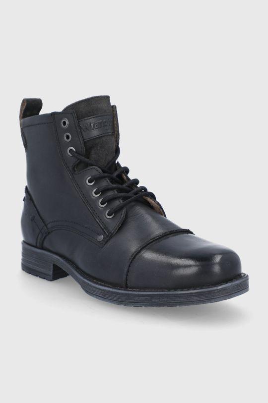 Wrangler - Buty skórzane czarny
