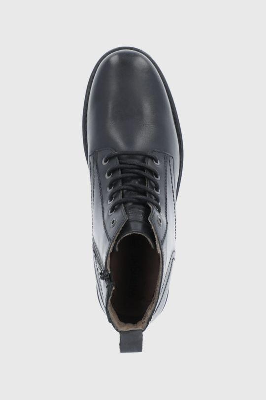 černá Wrangler - Kožené boty