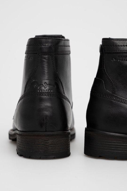 Pepe Jeans - Buty skórzane Melting Med Cholewka: Skóra naturalna, Wnętrze: Materiał tekstylny, Skóra naturalna, Podeszwa: Materiał syntetyczny