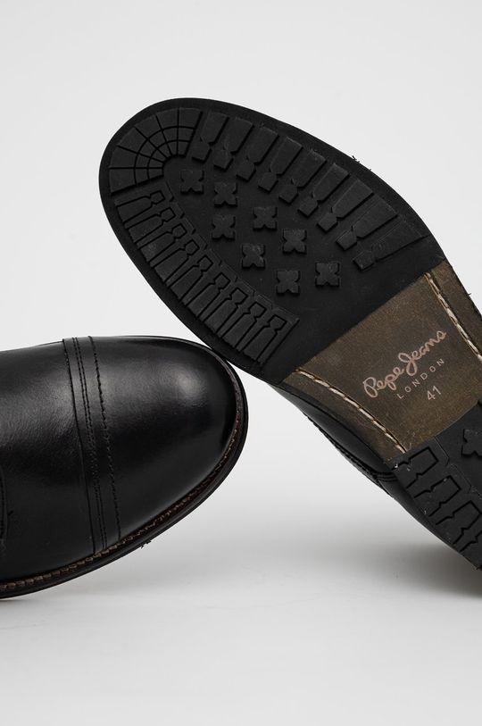 czarny Pepe Jeans - Buty skórzane Melting Med