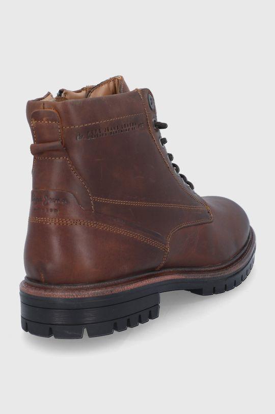 Pepe Jeans - Buty skórzane Ned Boot Lth Cholewka: Skóra naturalna, Wnętrze: Materiał tekstylny, Skóra naturalna, Podeszwa: Materiał syntetyczny