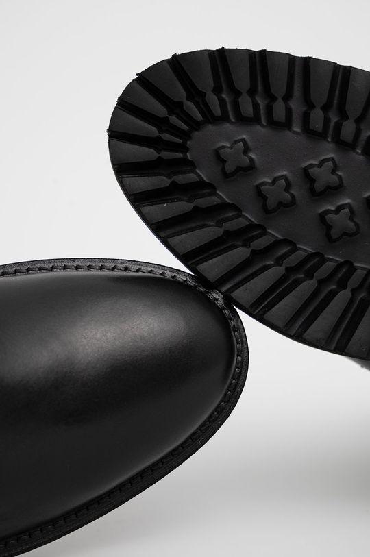 černá Pepe Jeans - Kožené boty Trucker Boot