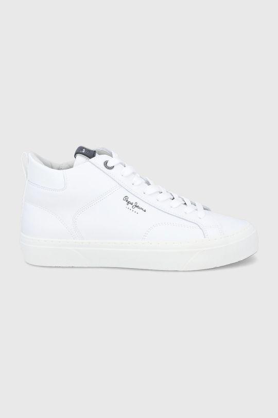 biały Pepe Jeans - Buty skórzane Yogi Original Boot Męski