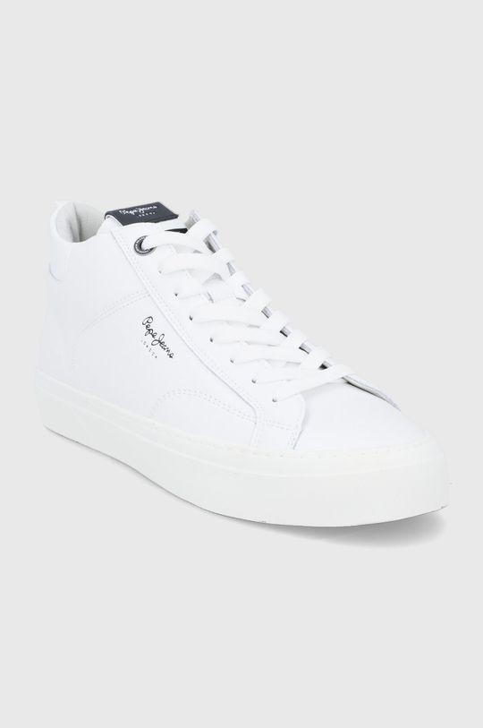 Pepe Jeans - Buty skórzane Yogi Original Boot biały