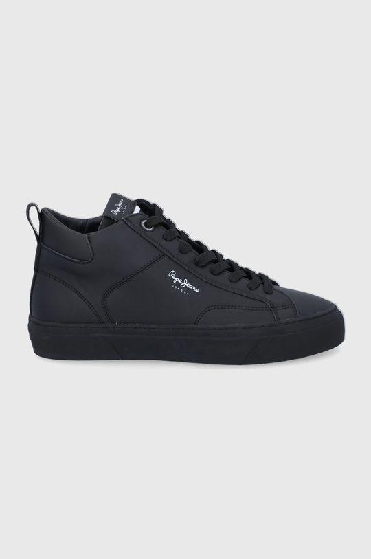 czarny Pepe Jeans - Buty skórzane Yogi Original Boot Męski