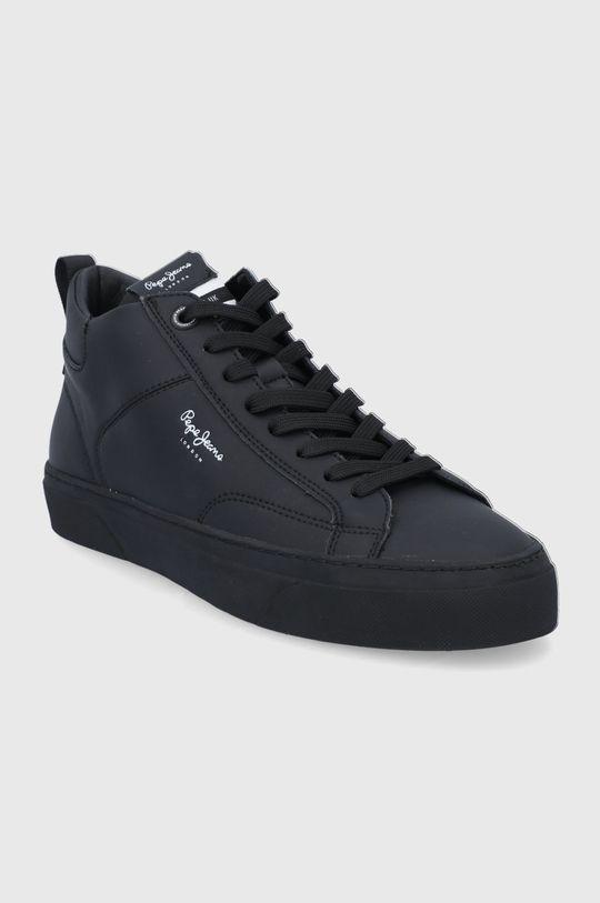 Pepe Jeans - Buty skórzane Yogi Original Boot czarny