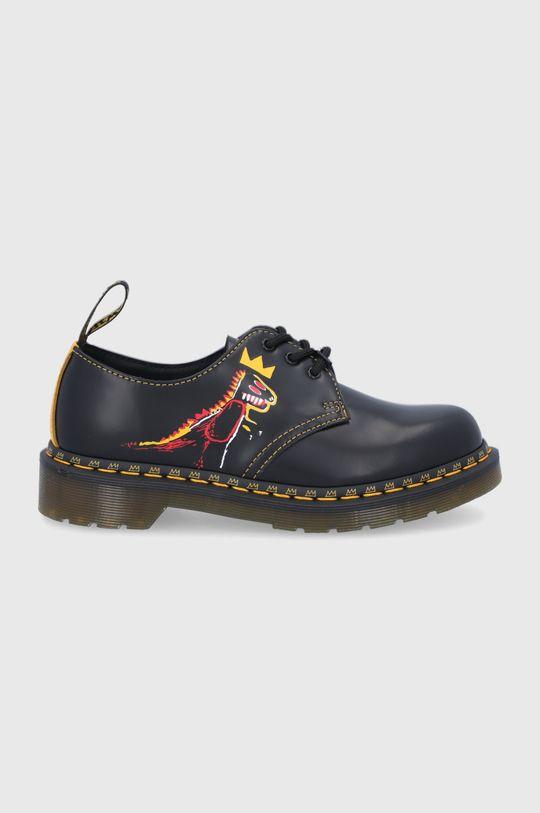 negru Dr. Martens - Pantofi de piele 1461 Basquiat Unisex