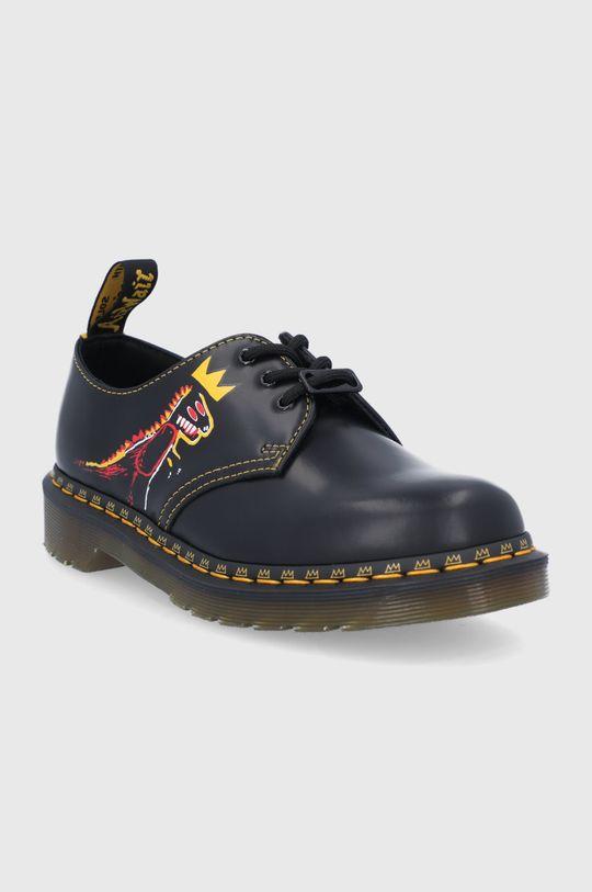 Dr. Martens - Pantofi de piele 1461 Basquiat negru