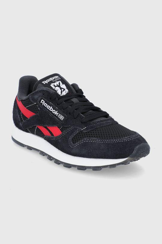 Reebok Classic - Pantofi CL Lether negru