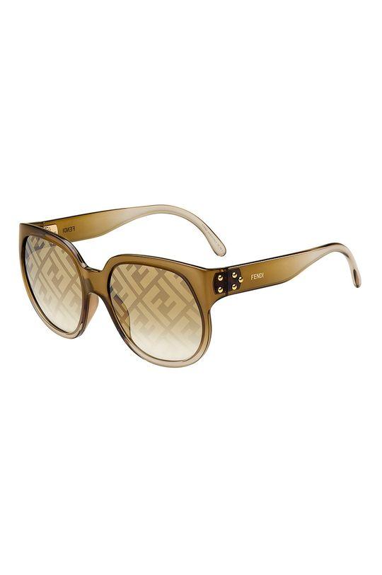 złoty brąz Fendi - Okulary przeciwsłoneczne Damski