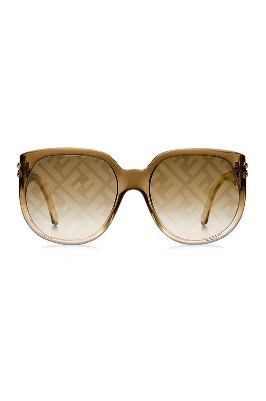 Fendi - Okulary przeciwsłoneczne złoty brąz