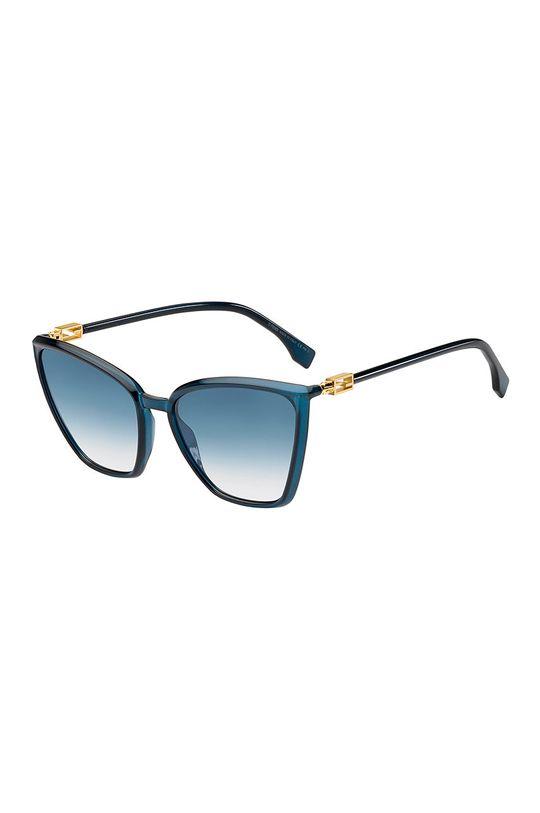 stalowy niebieski Fendi - Okulary przeciwsłoneczne Damski