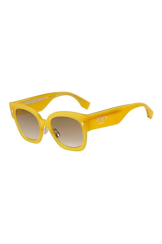 żółty Fendi - Okulary przeciwsłoneczne Damski