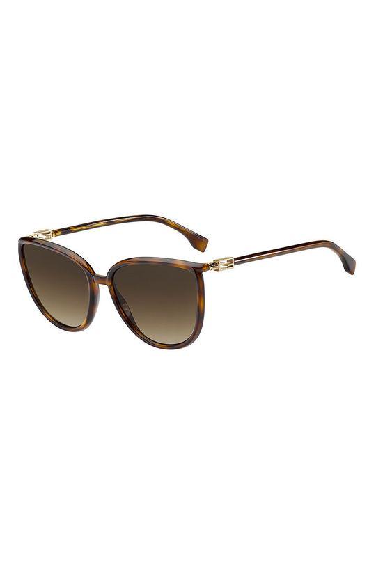 brązowy Fendi - Okulary przeciwsłoneczne Damski