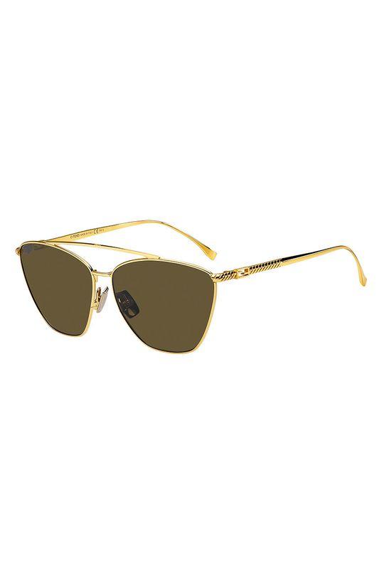 złoty Fendi - Okulary przeciwsłoneczne Damski