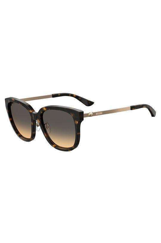 ciemny brązowy Moschino - Okulary przeciwsłoneczne Damski
