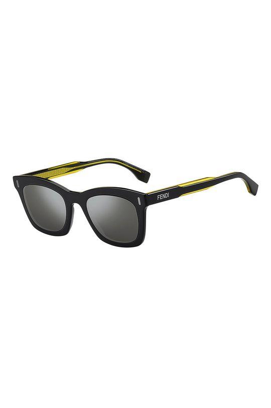 czarny Fendi - Okulary przeciwsłoneczne Męski