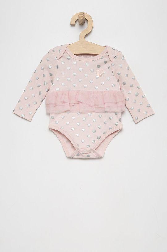 Guess - Komplet niemowlęcy pastelowy różowy