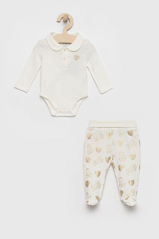biały Guess - Komplet niemowlęcy Dziewczęcy