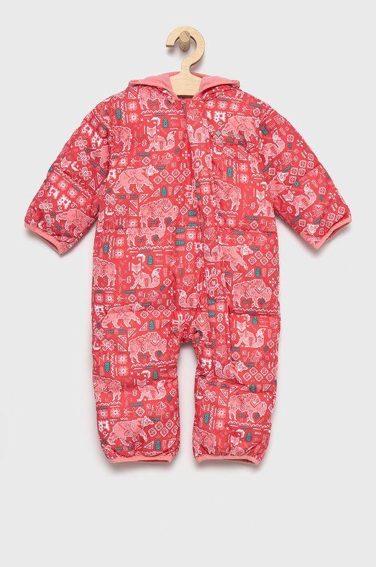 czerwony róż Columbia - Kombinezon puchowy niemowlęcy Dziewczęcy