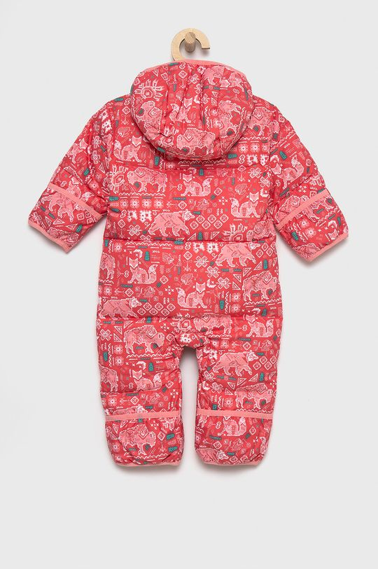 Columbia - Kombinezon puchowy niemowlęcy czerwony róż