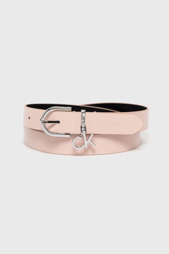 różowy Calvin Klein - Pasek skórzany Damski