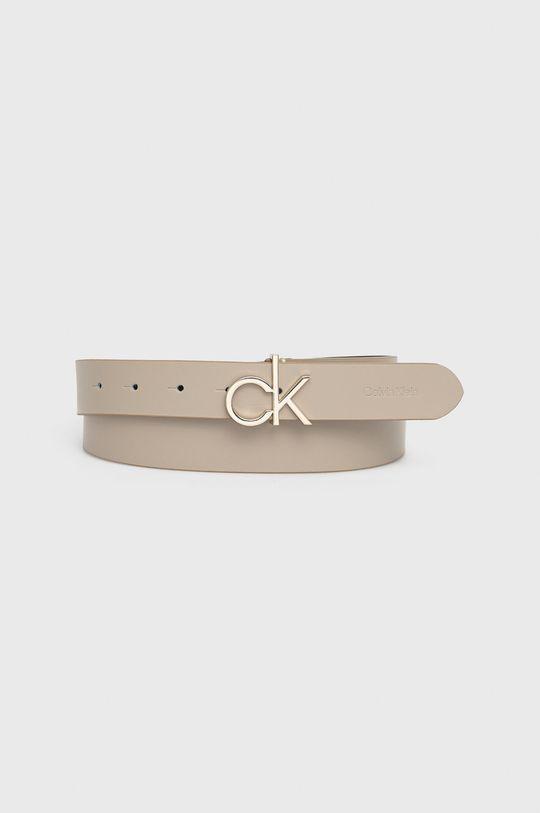 piaskowy Calvin Klein - Pasek skórzany Damski