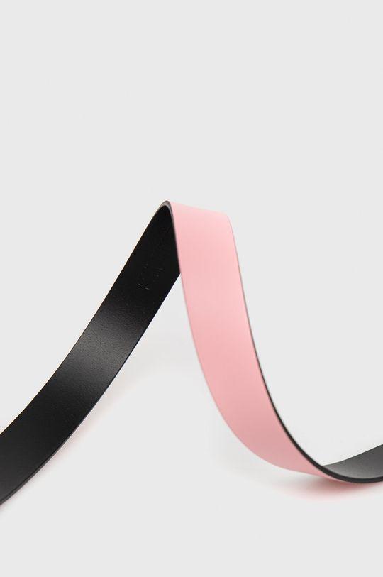 Calvin Klein Jeans - Pasek skórzany różowy