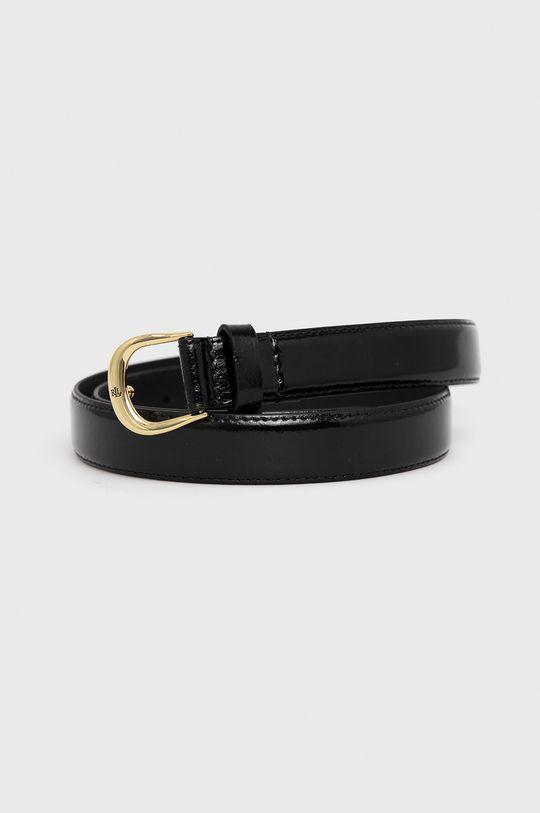 černá Lauren Ralph Lauren - Kožený pásek Dámský