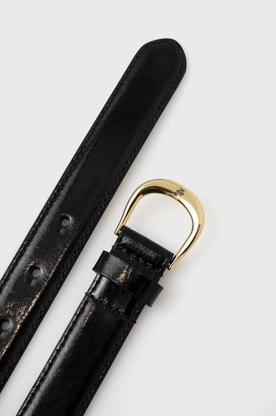 Lauren Ralph Lauren - Kožený pásek černá
