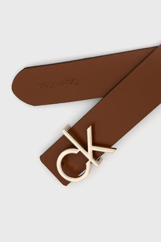 ciemny brązowy Calvin Klein - Pasek dwustronny