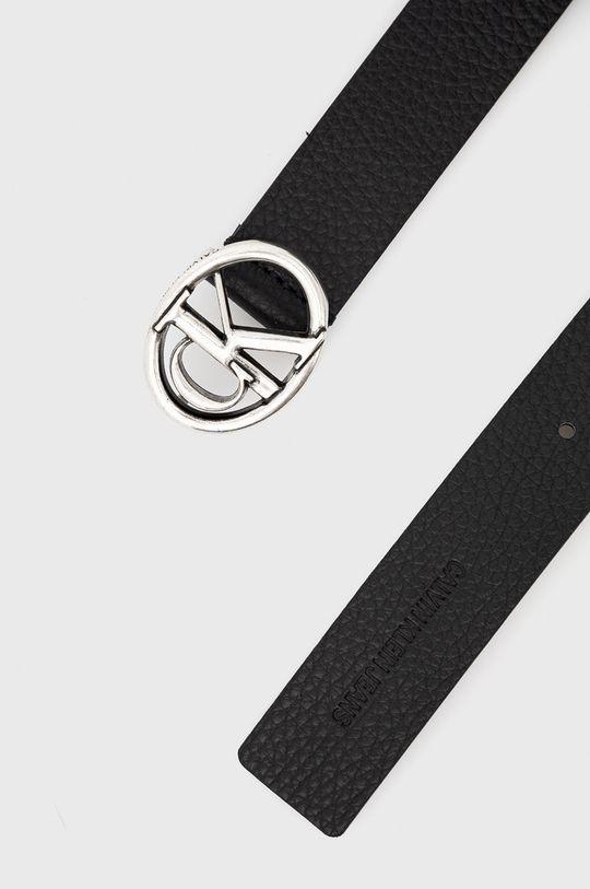 Calvin Klein Jeans - Pasek skórzany czarny