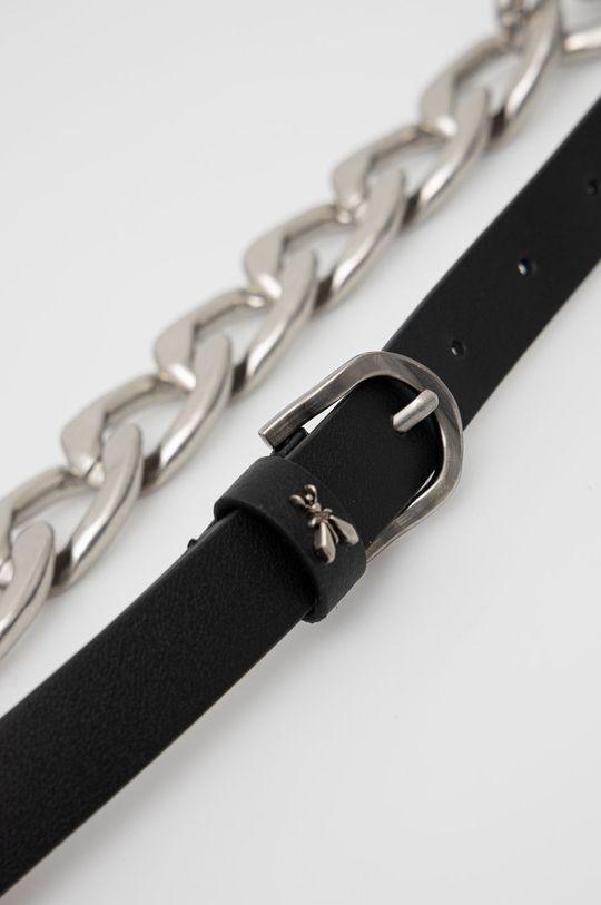Patrizia Pepe - Kožený pásek černá