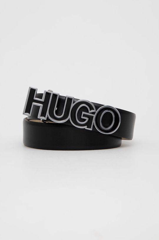 czarny Hugo - Pasek skórzany Damski