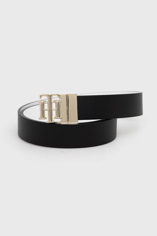 černá Tommy Hilfiger - Oboustranný kožený pásek Dámský