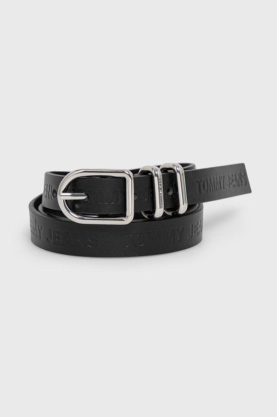 černá Tommy Jeans - Kožený pásek Dámský