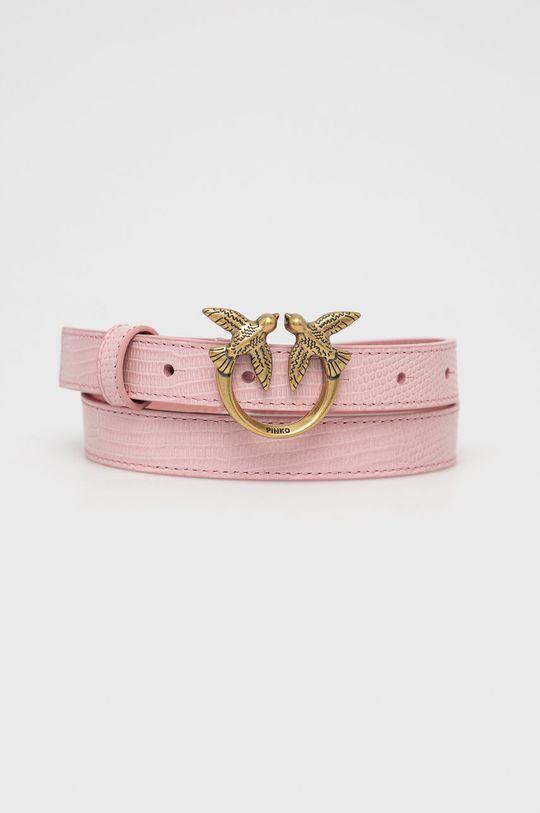 różowy Pinko - Pasek skórzany Damski
