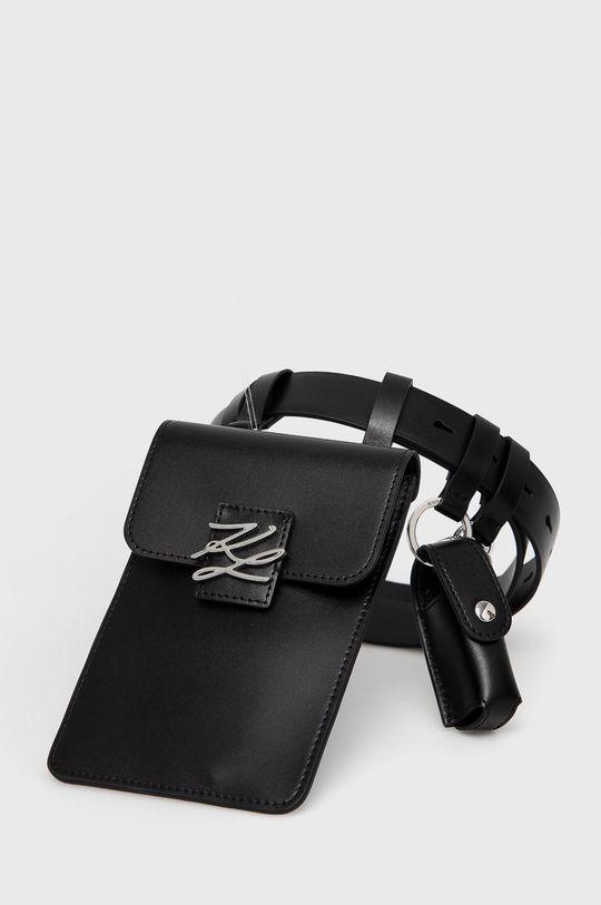 czarny Karl Lagerfeld - Nerka skórzana Damski