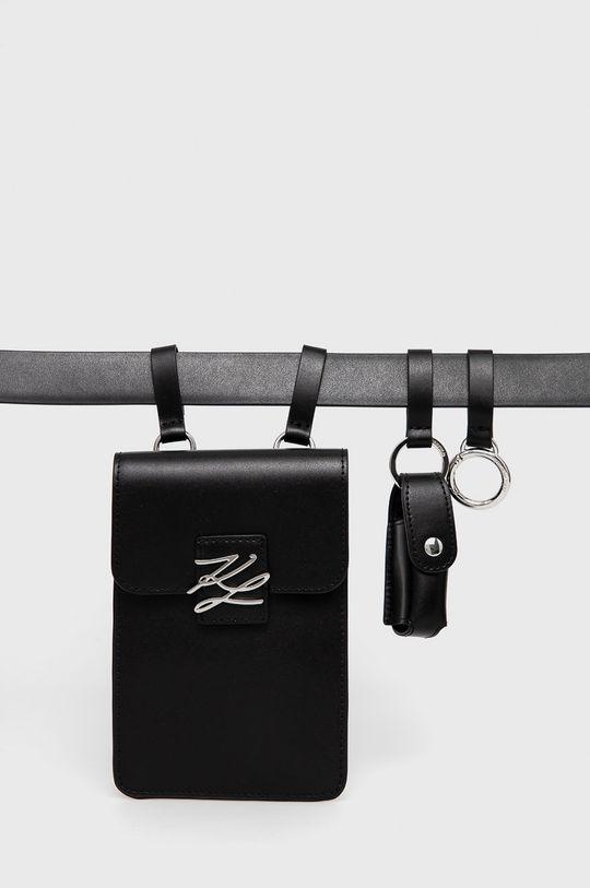 Karl Lagerfeld - Nerka skórzana czarny