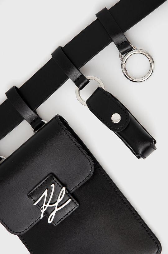 czarny Karl Lagerfeld - Nerka skórzana