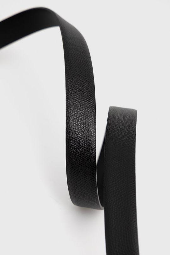 Trussardi - Kožený opasok čierna