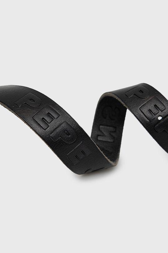 Pepe Jeans - Kožený pásek Lena černá