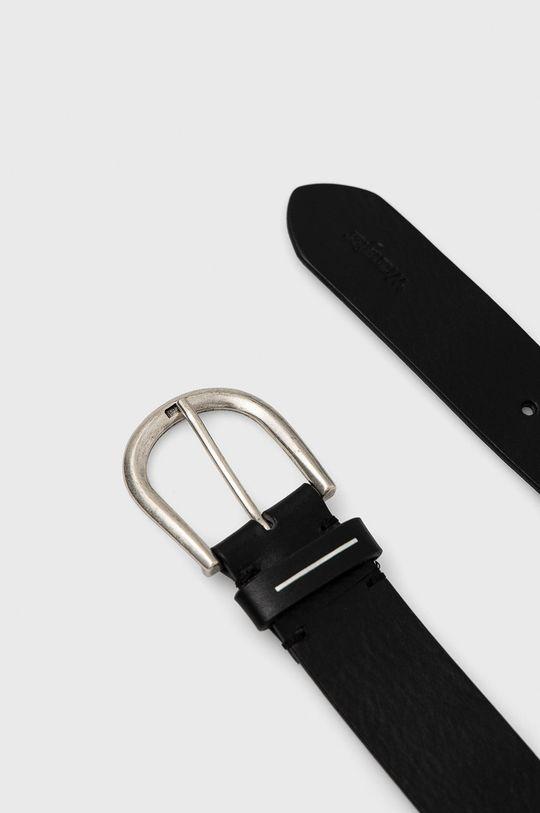 Wrangler - Kožený pásek černá