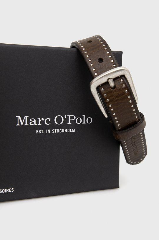 Marc O'Polo - Pasek skórzany kawowy