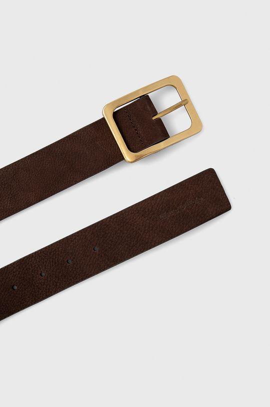 Marc O'Polo - Pasek skórzany brązowy