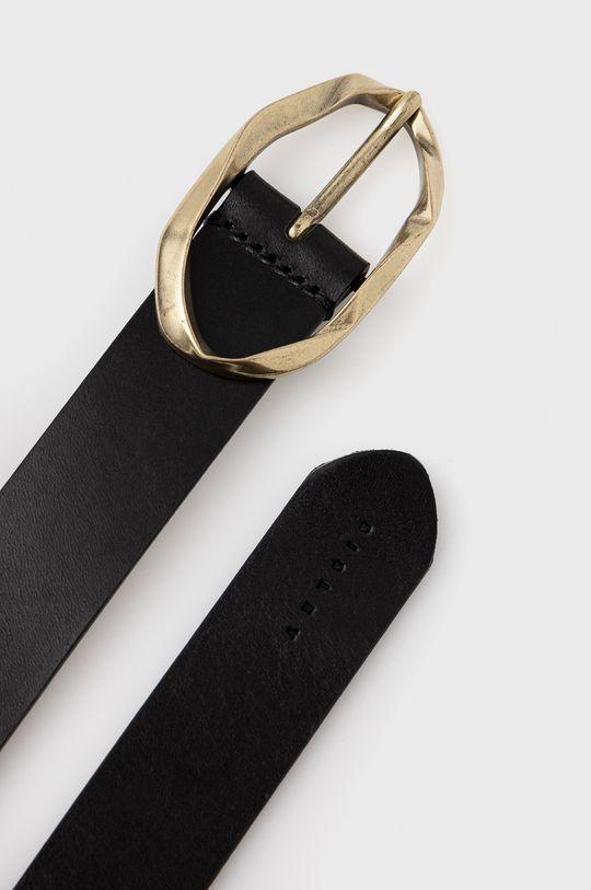 Sisley - Pasek skórzany czarny