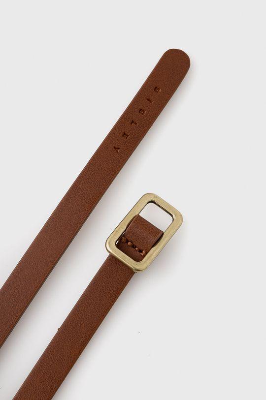 Sisley - Pasek skórzany złoty brąz